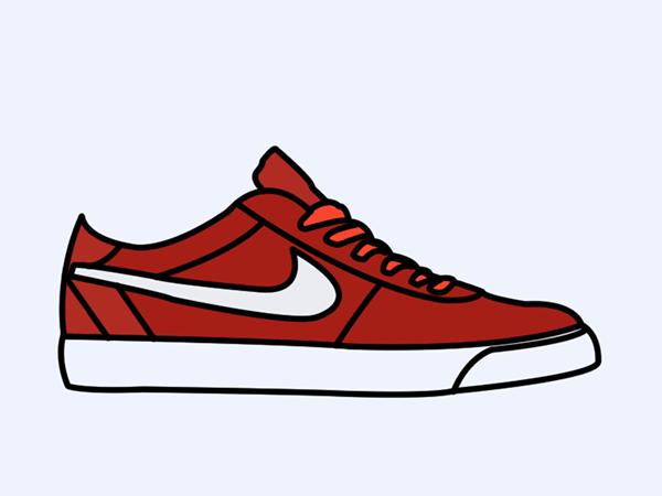 Nike Runing Shoe Drawing