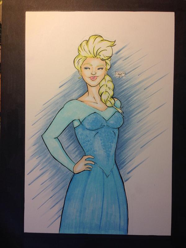 larios artofPLO copicart Drawing  disney frozen Elsa