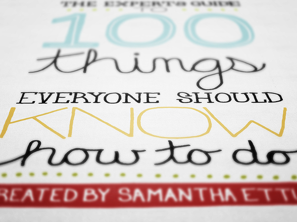 100 Things Everyone Should Know How To Do On Behance