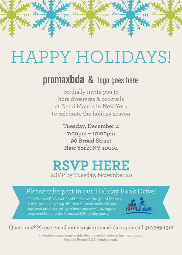 Member Holiday Party Email Invites on Behance – Holiday Party Email Invitations