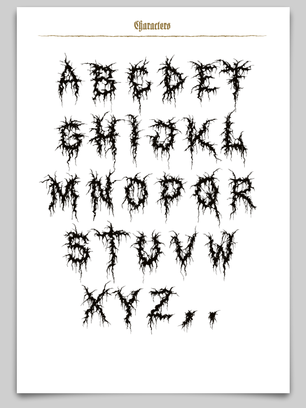 Deathcore Font XXII GORY BASTA...