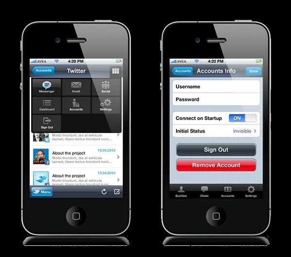 livego iphone twitter messenger iPad