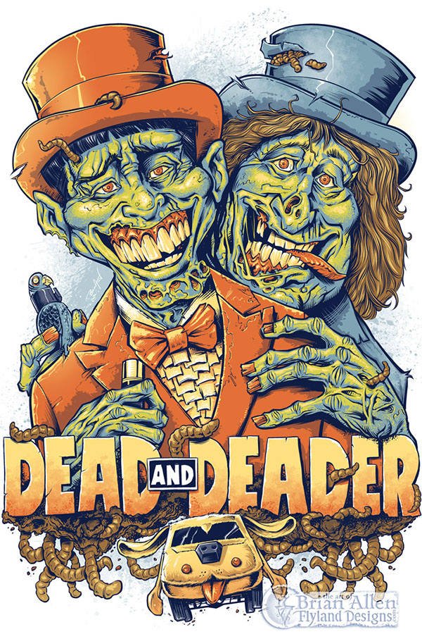 38731d05a Dumb and Dumber Zombie Tribute T-Shirt Illustration on Behance