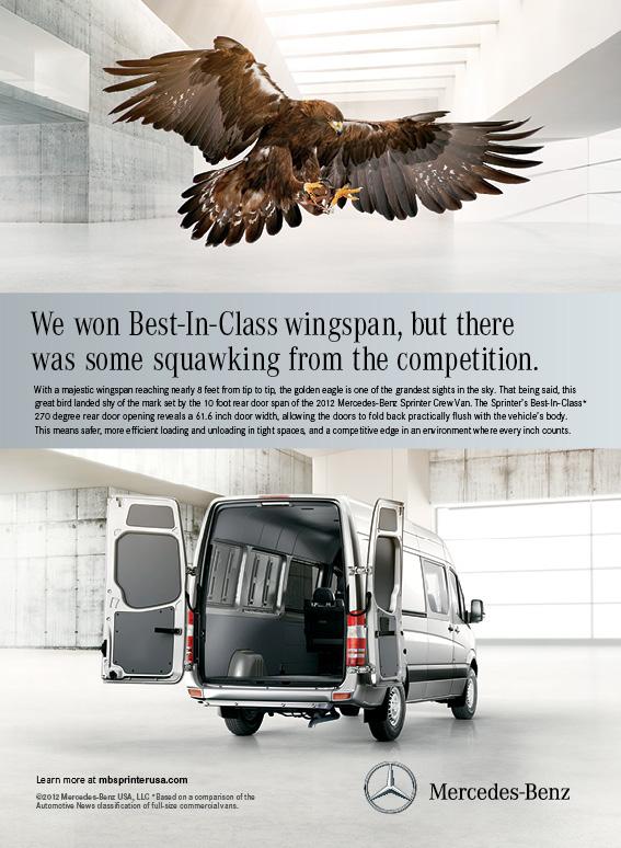 Mercedes benz sprinter ads on behance for Mercedes benz ad