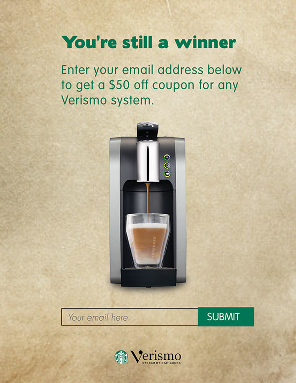 starbucks verismo on scad portfolios