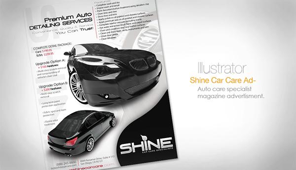 Car care Magazine Ad Layout car