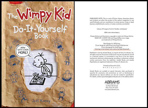 The wimpy kid do it yourself book on behance solutioingenieria Image collections