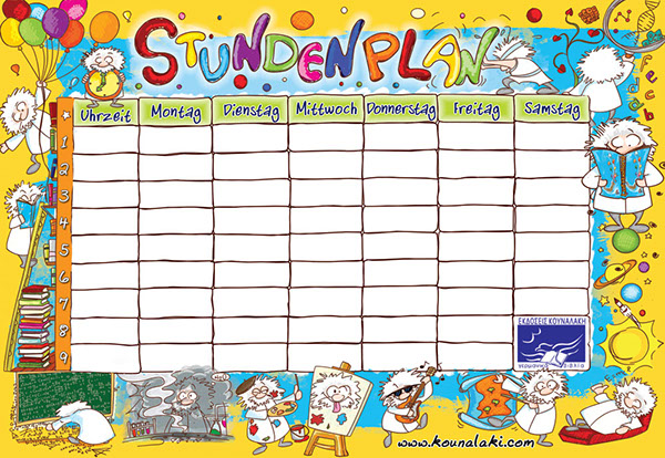 School Timetables School Timetable For Kids