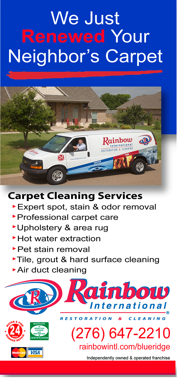 Rainbow International Carpet Cleaning Door Hanger On Behance