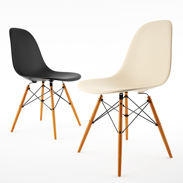 Free 3d model: Side Chair by Vitra Eames on Behance