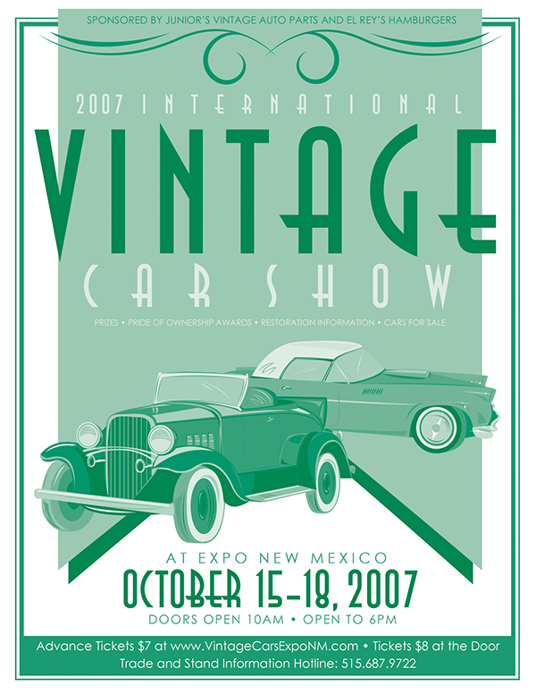 Vintage Car Show Ad And Illustration On Behance - Car shows around me