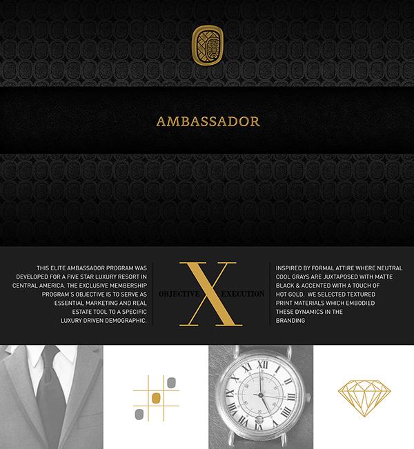 Ambassador vip program branding print invitation on behance stopboris Choice Image