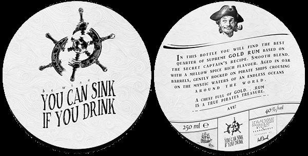Rum alcohol bottle pirates captain drink beverage Label etiquette matcloud