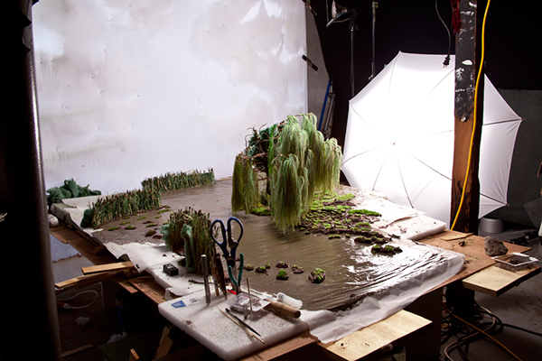 Strange Worlds,Matthew Albanese,Minature Landscapes,models,studio,Behind the scenes. Landscape Artist,realistic,Diorama,high detail,Finely Detailed