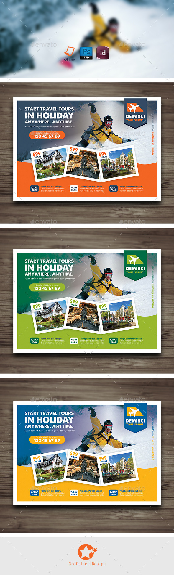 travel tours flyer templates on behance