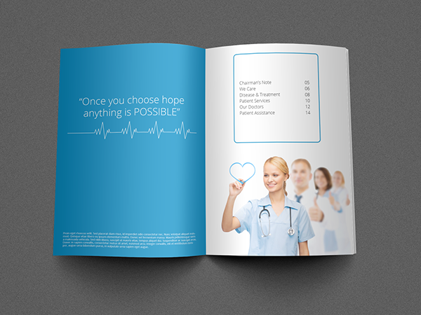 medical brochure template on behance