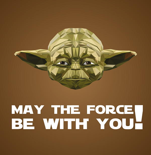 Yoda Character Design : Star wars low poly yoda on behance