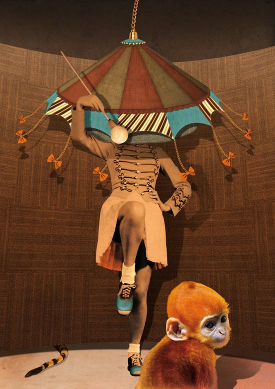 Circus ginger Majorette Blue shoe bowtie