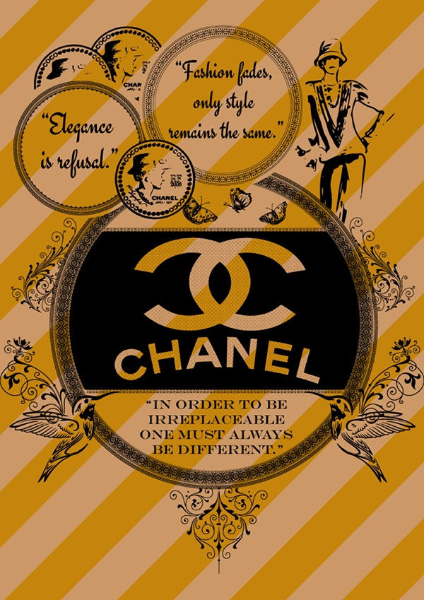 CoCo Chanel Print Ad/Poster/t-shirt on Behance
