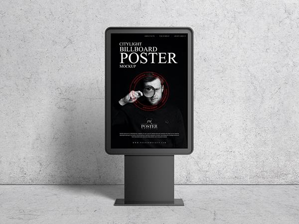 Citylight Billboard Poster Mockup Free
