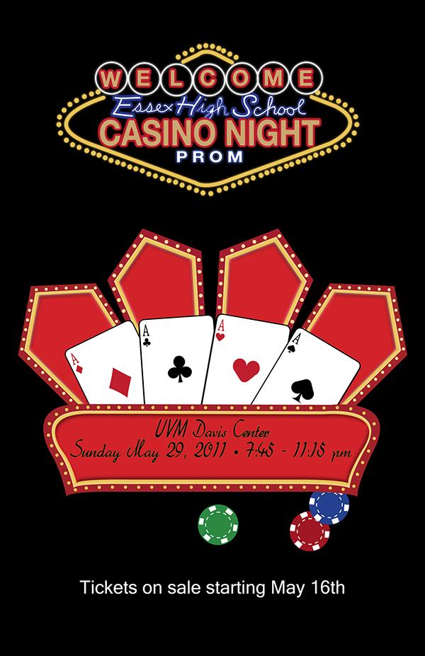 EHS Casino Night Prom on Behance – Prom Tickets Design