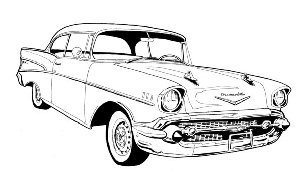 classic cars line art on behance