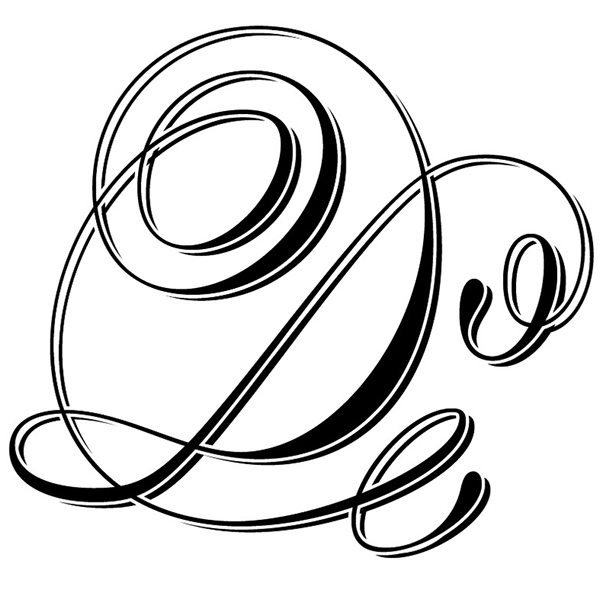 I Was Given The Letter D And For It Opted A Callygraphic Approach