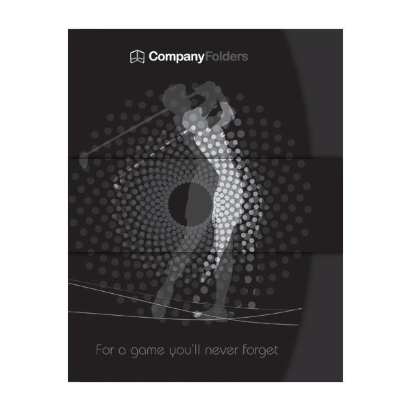 free template] golf presentation folder design - ai on behance, Presentation templates
