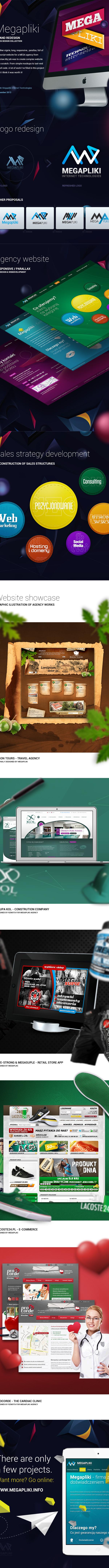 Webdesign Webdevelopment parallax Responsive rwd js agency megapliki rzmota graphic portfolio