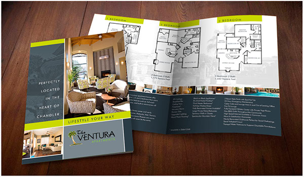 The ventura apartments 11x17 on behance for Apartment brochure design