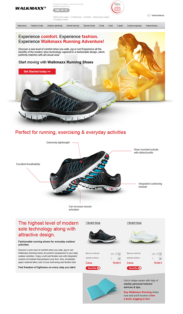 Walkmaxx Landing page - Running shoes on Behance