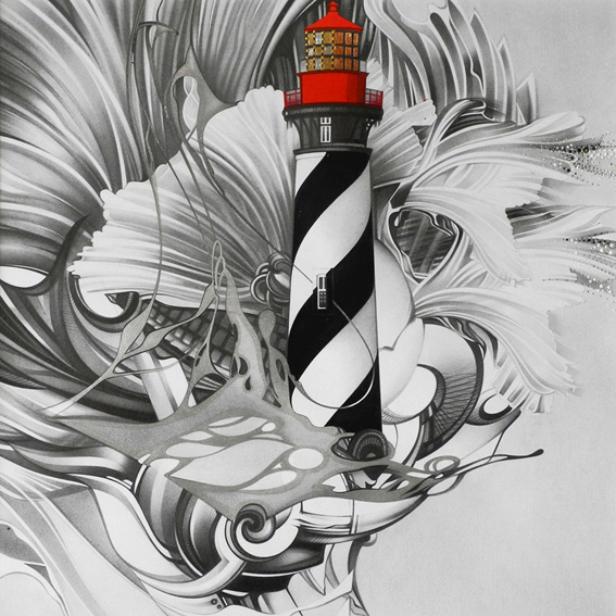 Альвина Денисенко,Alvina Denisenko,allween,lighthouse,sketch,Picture,graphic art,artwork,pencil,Drawing