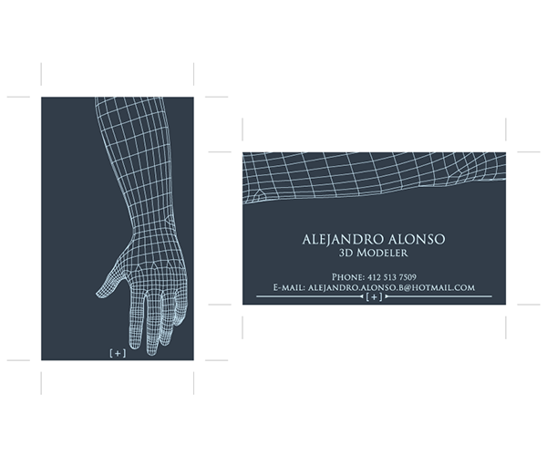 3d modeler business card on behance - 3 D Business Card