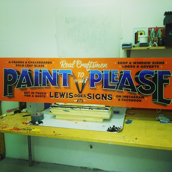 Paint to please on behance personal project of a custom designed and reverse glass hand painted sign done with one shot enamels on reclaimed glass publicscrutiny Image collections