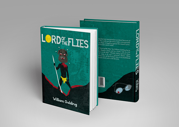Lord Of The Flies Book Cover On Student Show