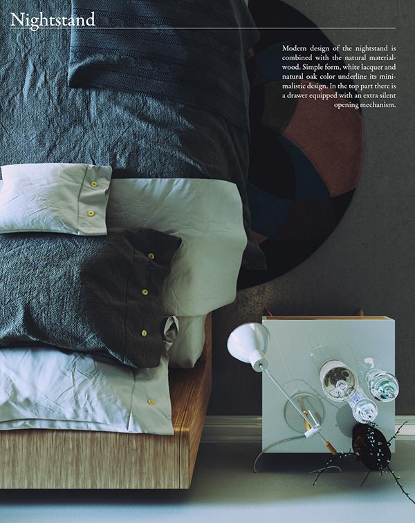 細緻的21款床頭櫃設計欣賞