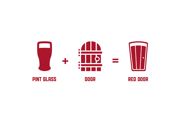Primary Logo u2022 Red Door Brewing Co.  sc 1 st  Behance & Red Door Brewing Co. Logo on Behance