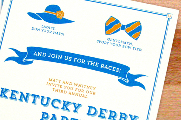 kentucky derby party invitations on behance, Party invitations