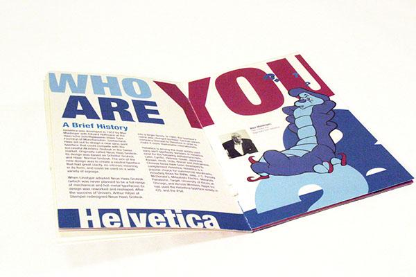 type speciman book,typographic booklet,Alice and Wonderland,rabbit hole