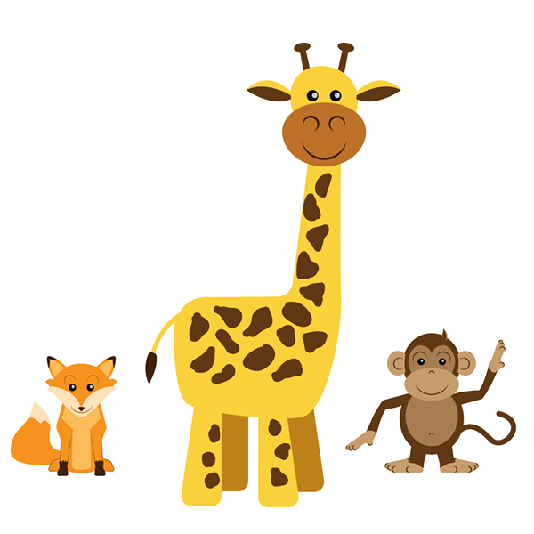 built all the animal shapes in illustrator and tried to maintain a ...