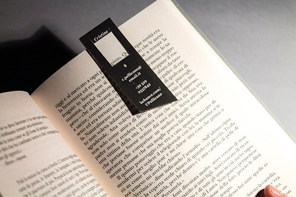 Bookmark business card on behance my first business card ive designed it in the shape of a little bookmark easy to carry around it talks about some of my interests books colourmoves