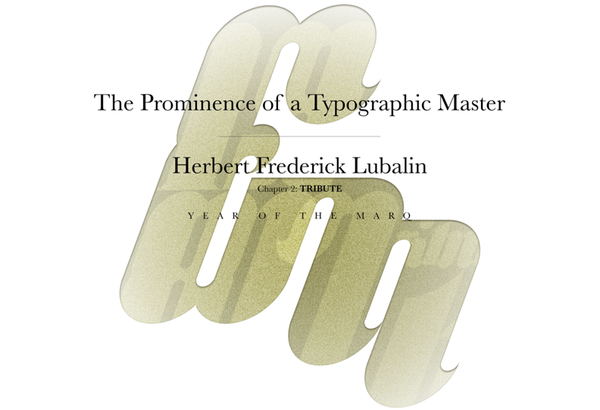 marc charleston type typography herb lubalin frederick typeface font black white grey gray error message year of the marq 1981 tribute dedication