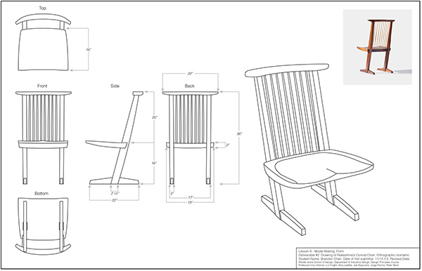 1 4 Scale Chair Model On Risd Portfolios