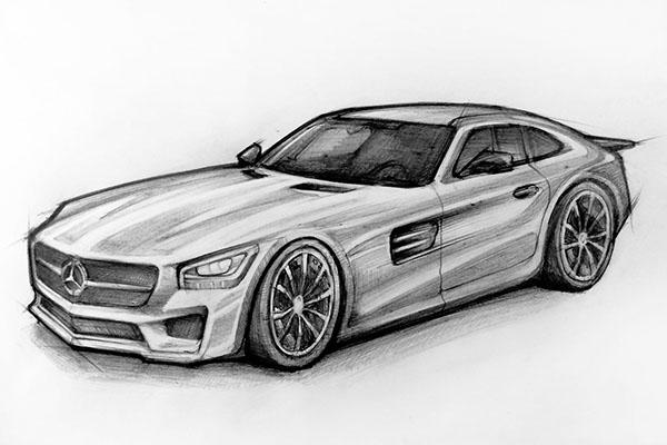 Mercedes Sketch on PhilaU Portfolios