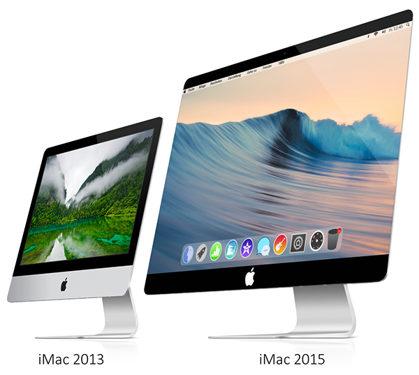 iMac 2015 with OSX 10.10 and Frameless Sceen on Behance