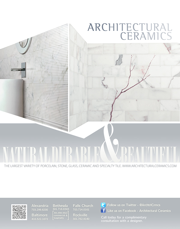 Collection of full page ads for architectural ceramics on for Architectural ceramics baltimore