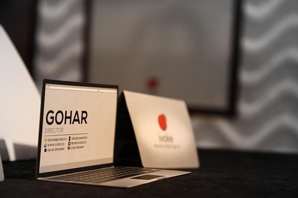 creative business card for ivoke digital agency on behance