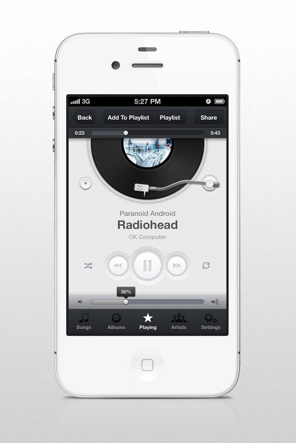 Music App Ui Iphone On Behance