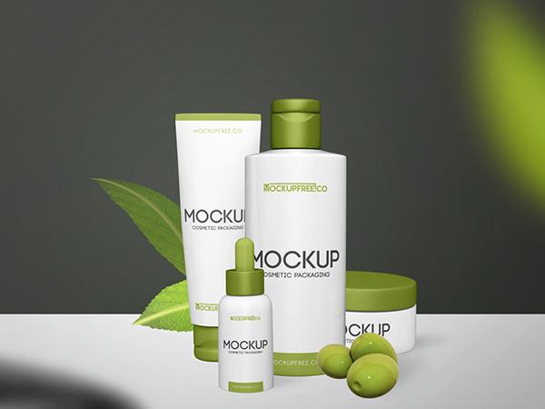 Free Cosmetic Packaging Mockup Template