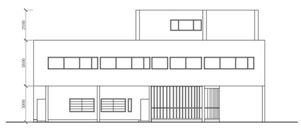 Villa Savoye Front Elevation : Ground floor front elevation photoshop joy studio design
